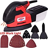 Dobetter Mouse Detail Sander with 18Pcs Sandpaper, Multi Electric Palm Finger Sander with Sanding Discs for Tight Spaces Sanding in Home Decoration, DIY -MS20/2.0A/13000 OPM Review