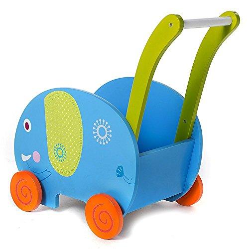 Labebe Baby Wooden Activity Walker Push cart (Wooden Activity Cart)