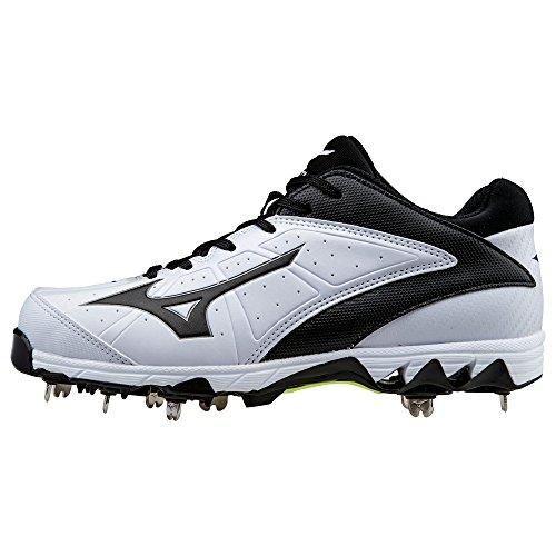Mizuno 9-Spike Swift 4 Metal Fastpitch Softball Cleat - White/Black 6.5