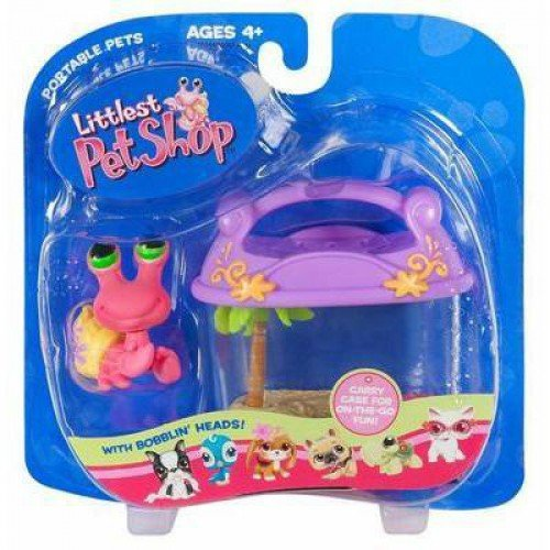 Littlest Pet Shop Hermit Crab - Littlest Pet Shop Pets On The Go Figure Hermit Crab with Carry Case Hard to Find!