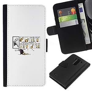 All Phone Most Case / Oferta Especial Cáscara Funda de cuero Monedero Cubierta de proteccion Caso / Wallet Case for LG G3 // Calvin Hobb