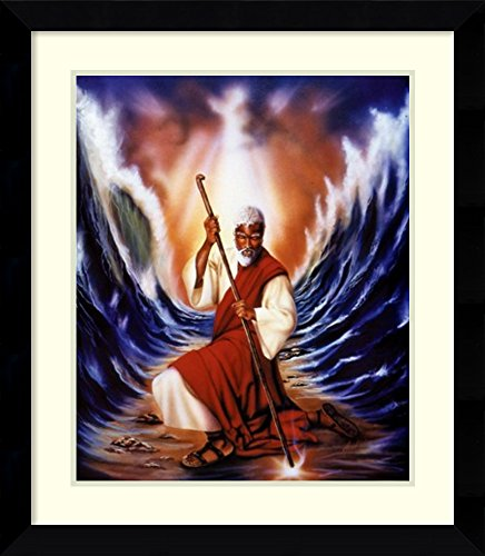 Framed Wall Art Print | Home Wall Decor Art Prints | Moses Parting The Red Sea by Aaron Hicks | Modern Decor]()