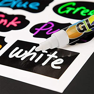 Sanbebe 8 Chalk Markers + Chalk Eraser Liquid Dustless Chalk Erasable Art Multicolor Floor Chalks for Blackboard Dawing (Multicolor, 8): Clothing