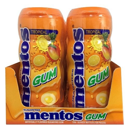 Product Of Mentos, Gum Tropical, Count 10 (15Pcs) - Gum / Grab Varieties & Flavors by Product Of Mentos