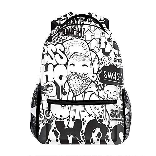 Lyrics Words Backpack For School Shoulder Daypack -