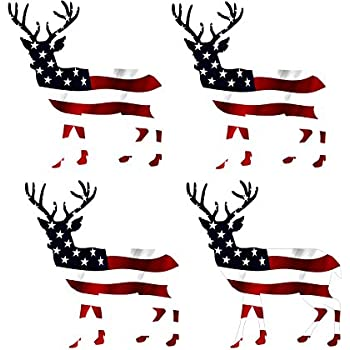 Browning whitetail deer buck hunting window Patriotic Flag sticker vinyl decal