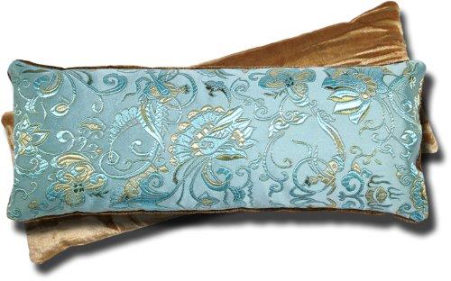Candi Andi - Eye Pillow - Satin Brocade & Crushed Velvet - Inodore - Blue Lagoon