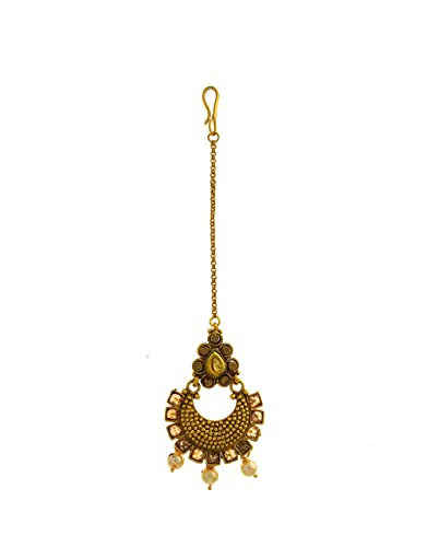 Hair & Head Jewelry Gold Finish Chandbali Pattern Adorable Designer Traditional For Women And Girls