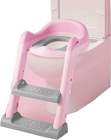 Tipo de Escalera para el baño del Inodoro para niños bebé Masculino y Femenino Escalera para bebé Asiento del Inodoro Inodoro Orinal Ejercicio bebé Inodoro Independiente: Amazon.es: Hogar