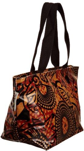 Re-uz Small Oilcloth Tote Tribal - Bolso de tela para mujer naranja - Orange/Black