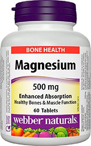 Webber Naturals Magnesium 500mg Enhanced Absorption, 60 Tablet