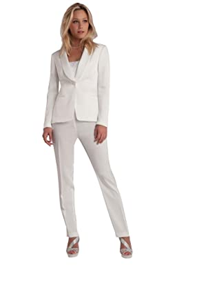 factory outlet best supplier various design Tailleur Femme Cérémonie veste et pantalon blanc - Blanc ...