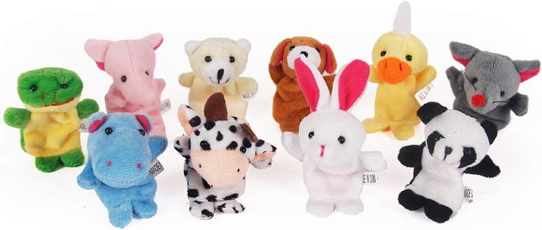 1 UNID Divertido Bebé de Peluche de Juguete Animal Marionetas de Dedo Doble Capa con Pies Apoyos de Cuentacuentos Muñeca Marioneta de Mano Niños Juguetes Niños Regalo-Aleatorio-1