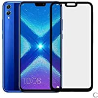KOKO 6D Tempered Glass with Curved Edges and 9H Hardness - Full Glue Edge-Edge Screen Protection for Honor 8X (Black) (Limited Period Launch Offer)