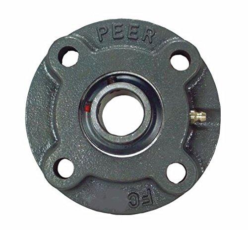 4 Bolt Relubricable 1-3//16 Bore Set Screw Locking 2-25//32 Bolt Center Cast Iron Single Lip Seal Wide Inner Bearing Peer Bearing HCFC206-19 Cartridge Unit