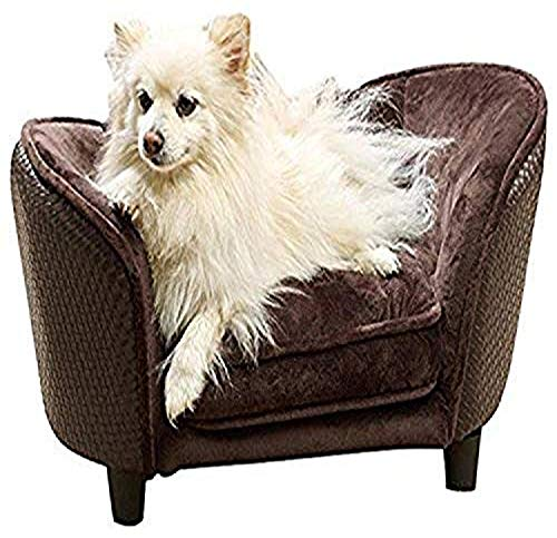 Enchanted Home Pet Ultra Plush Snuggle Bed, 26.5 by 16 by 16-Inch, Brown Basket