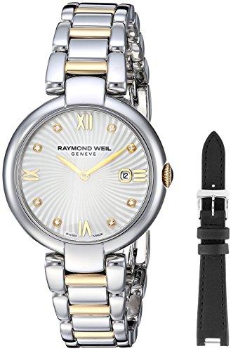 Raymond Weil White Bracelet - Raymond Weil Women's 'Shine' Quartz Stainless Steel Dress Watch, Color:Two Tone (Model: 1600-STP-00995)
