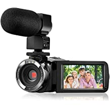 """Camera Camcorder,Onshowy Remote Control Infrared Night Vision Handy Camera HD 1080P 24MP 16X Digital Zoom Video Camera with Microphone and 3.0"""" LCD 270 Degree Touchscreen and 2 Batteries (Black)"""