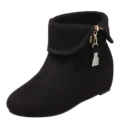 Logobeing Botas Altas Mujer ,Botines Mujer Zapatos Cuñas Botines Mujer Tacon Medio Botines Plataforma Botas