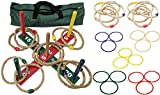 MABUA Ring Toss Game Set 25 Ropes Indoor Outdoor Hookem Horseshoe Yard Kids Adults with 10 Quoits, 15 Plastic and Carry Bag. Toys for Children Boys Girls