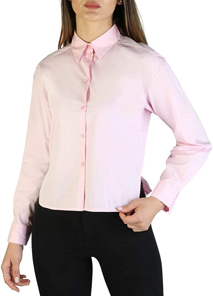Armani Exchange Mao Collar Blusa para Mujer