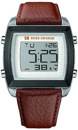 1922a16877c4 Hugo Boss Orange Digital Dial Brown Leather Mens Watch 1512610  Hugo Boss   Amazon.com.mx  Relojes