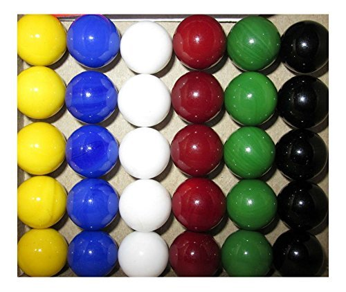 30 new Solid Color Replacement Marbles Wahoo Aggravation Board game GLASS Wa Hoo (Marble Game Board)
