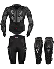 HEROBIKER Black Motorcycle Body Armor Motocross Armour Motorcycle Jackets Gears Short Pants protective Motocycle Knee Pad