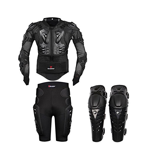 Motorcycle Body Armor Motocross Armour Motorcycle Jackets+ Gears Short Pants+protective Motocycle Knee - Pants Armor