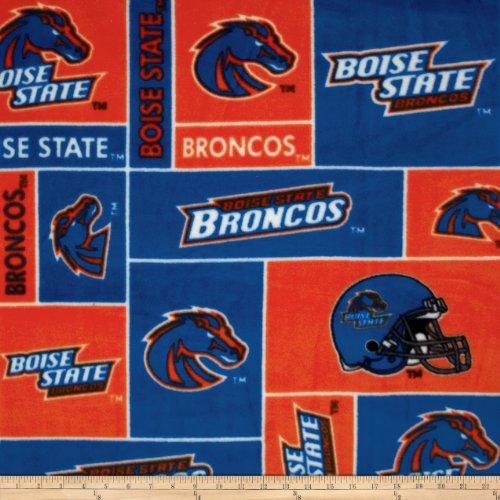- Sykel Enterprises Collegiate Fleece Boise State University Fabric by The Yard Blue