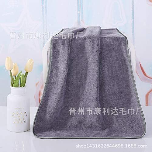 Wangxin/® Serviette de Bain brod/ée /à s/échage Rapide pour Salon de beaut/é Gris 90 x 190 cm