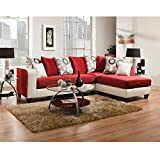 Flash Furniture Riverstone Implosion Red Velvet Sectional Review