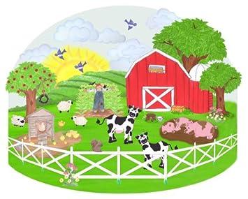 Amazoncom Barnyard Wall Mural  Farm Animal Wall Decal For Baby - Barnyard nursery wall decals