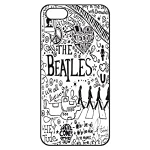 SUUER The Beatles Lyric background Designer Personalized Custom Plastic Hard CASE for iPhone 5 5s Durable Case Cover