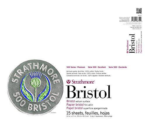 Strathmore 500 Series Bristol, 2-Ply Vellum Surface, 14