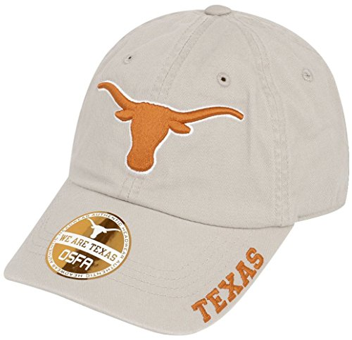 289c apparel Texas Longhorns Khaki Basic Slouch Adjustable Cap