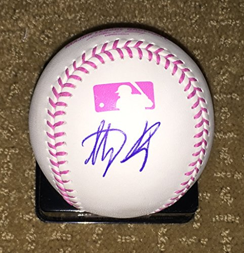 Chicago Cubs Anthony Rizzo signed autographed PINK Mothers Day/Breast Cancer Baseball JSA COA by Shop4Autographs