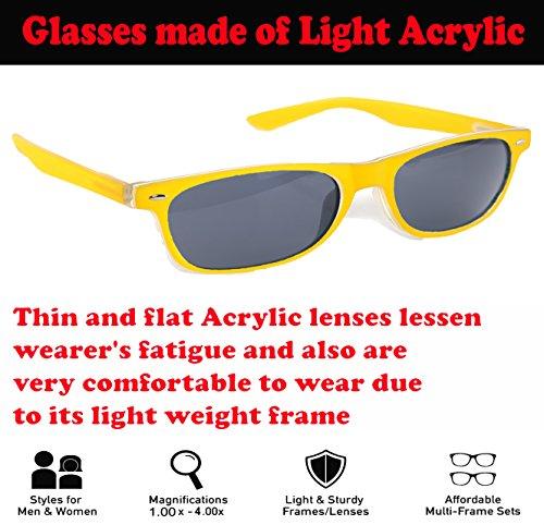 Lectura Gafas unisex Yellow Hinges de el vista sol 4sold Spring leer sol para 60qwar6g
