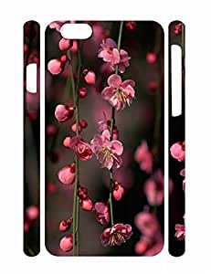 Design Sweet Flower Print Dust Protection Phone Case for Iphone 6 Plus 5.5 Inch