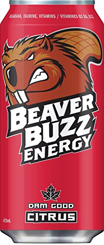 Canadian Beaver Buzz (RED Can) CITRUS Energy Drink - 16oz x 12pk