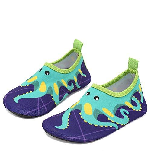 CIOR Fantiny Baby Boys Grils Water Shoes Unisex Infant Barefoot Skin Aqua Socks for Beach Swim Pool