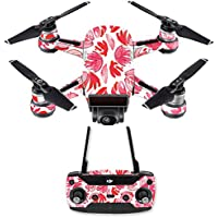 Skin for DJI Spark Mini Drone Combo - Red Petals| MightySkins Protective, Durable, and Unique Vinyl Decal wrap cover | Easy To Apply, Remove, and Change Styles | Made in the USA