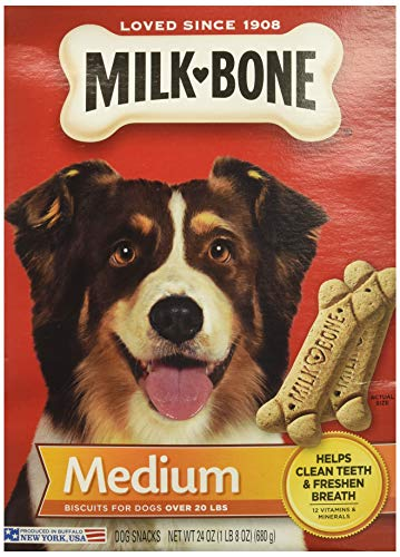 Milk-Bone 3 Pack Medium Biscuits For Dogs Over 20 Lbs, 24 Ou