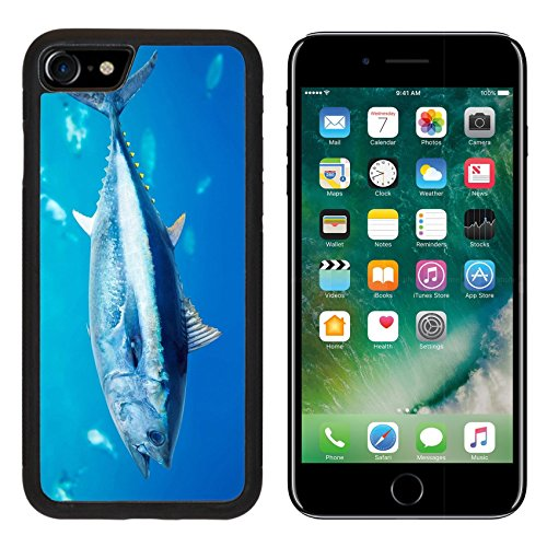 Liili iPhone 7 Case and iPhone 8 Case Silicone Bumper Shockproof Anti-Scratch Resistant Tempered Glass Hard Cover IMAGE ID: 10742665 Bluefin tuna Thunnus thynnus saltwater fish in -