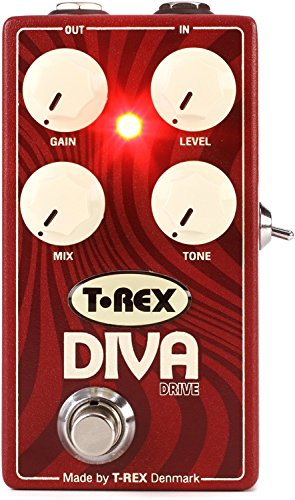 T-Rex Engineering DIVA-DRIVE Overdrive Guitar Effects Pedal with 3-Way Bass Boost (Drive Guitar Pedal)