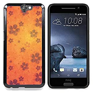 "Qstar Arte & diseño plástico duro Fundas Cover Cubre Hard Case Cover para HTC One A9 (Wallpaper Flores Flor de la floración de Orange"")"