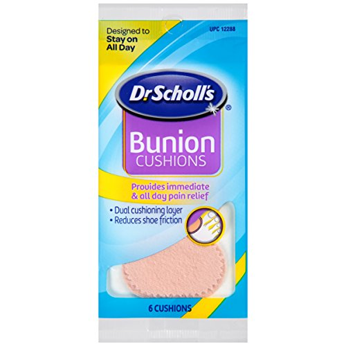 Dr. Scholl's Bunion Cushions, 6ct (Pack of 8) // Dual Cushioning Layer Provides Immediate & All-Day Bunion Pain Relief