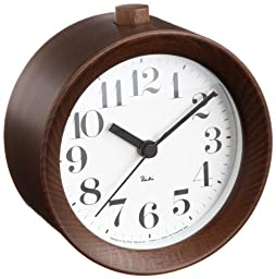 Lemnos Riki Alarm Clock - Brown