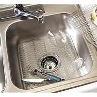 """Rubbermaid - Protector de lavamanos con antimicrobiano Microban incorporado. Dimensiones: 12.48 """"x11.48"""" x.39 """"(azul bebé /transparente)"""