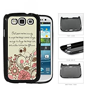 God Serenity Courage Quote With Pink Floral Pattern Hard Plastic Snap On Cell Phone Case Samsung Galaxy S3 SIII I9300